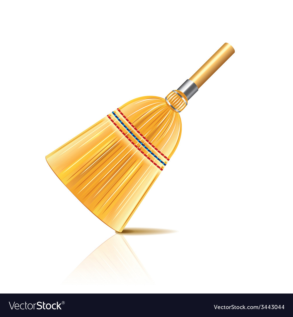 Broom isolated vector | Price: 1 Credit (USD $1)