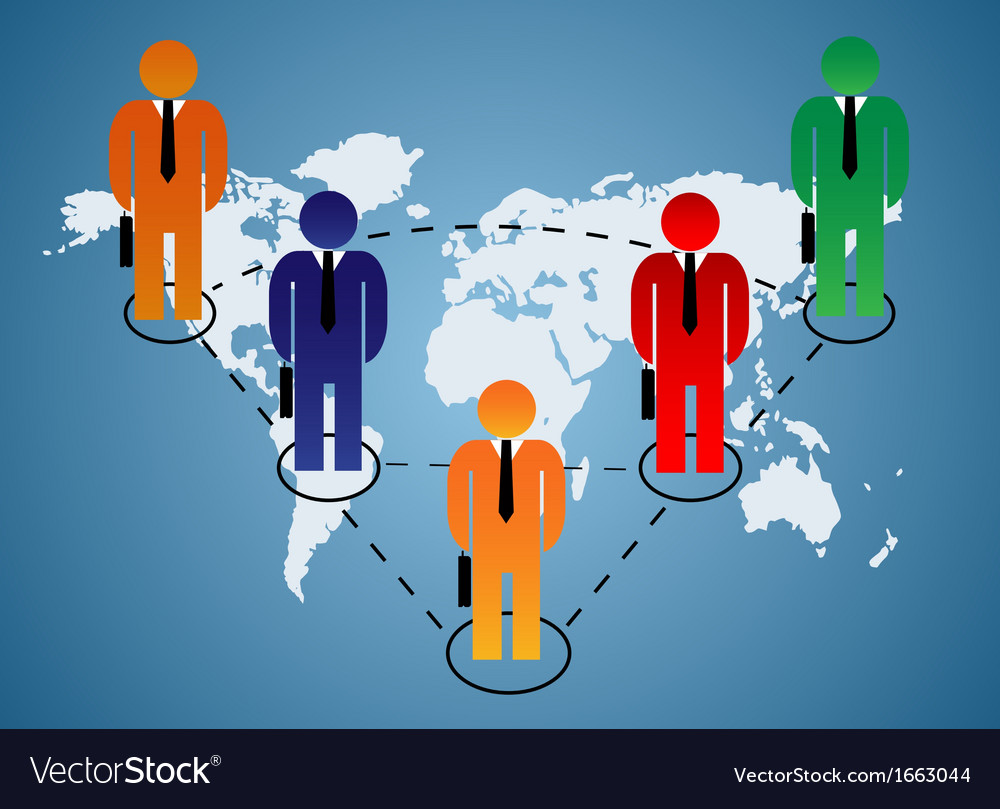 Business relationship global vector | Price: 1 Credit (USD $1)
