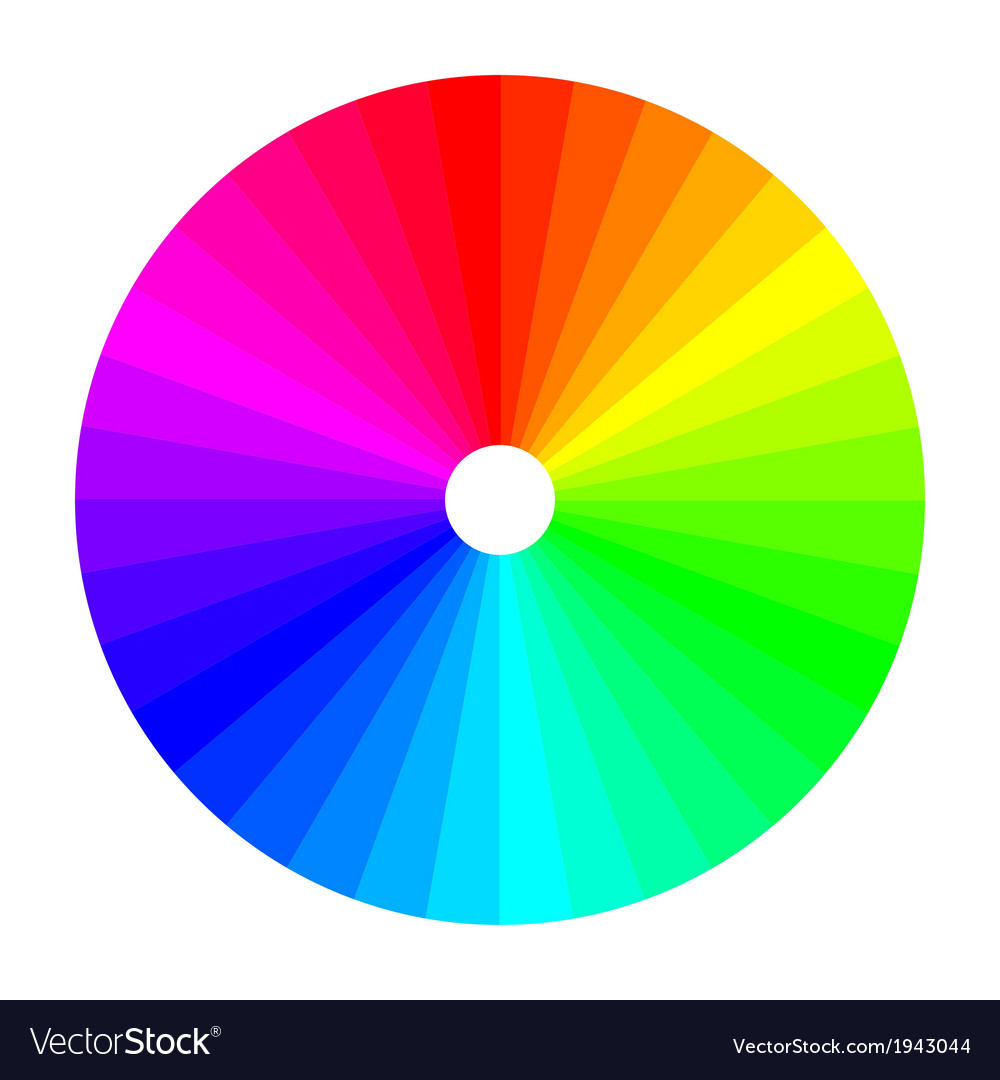 Color wheel with shade of colors colour spectrum vector | Price: 1 Credit (USD $1)