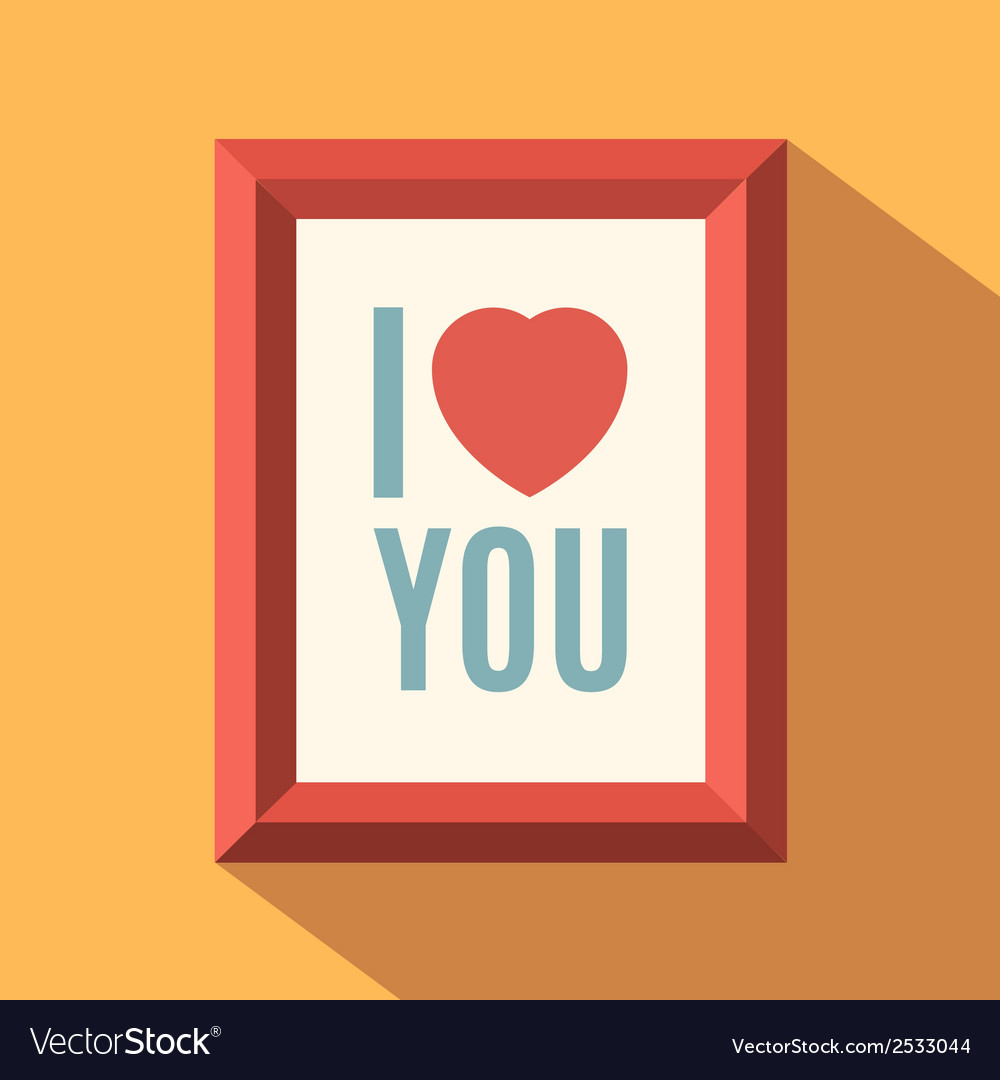 I love you poster vector | Price: 1 Credit (USD $1)