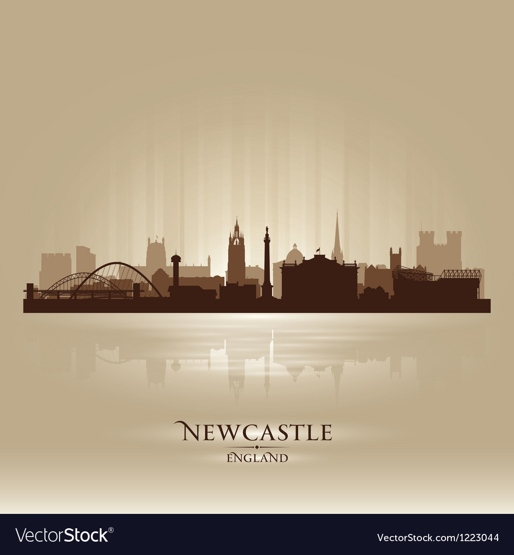 Newcastle england skyline city silhouette vector | Price: 1 Credit (USD $1)