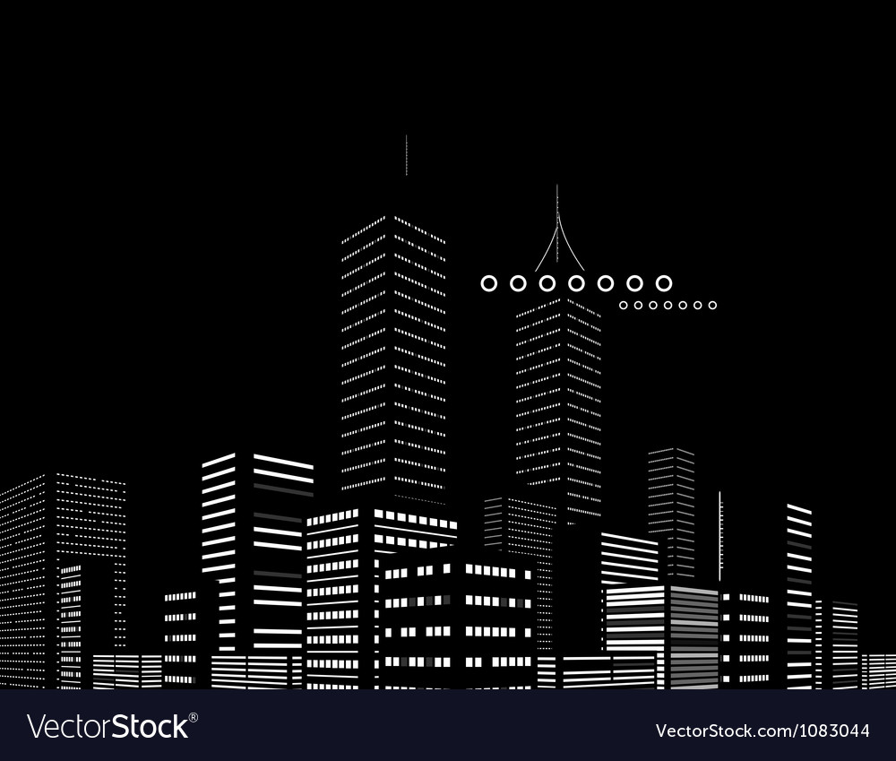 Night modern city abstract background vector | Price: 1 Credit (USD $1)