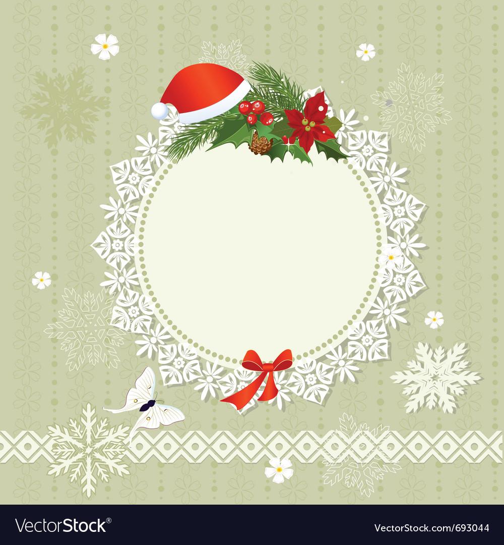 Ornamental christmas frame vector | Price: 1 Credit (USD $1)