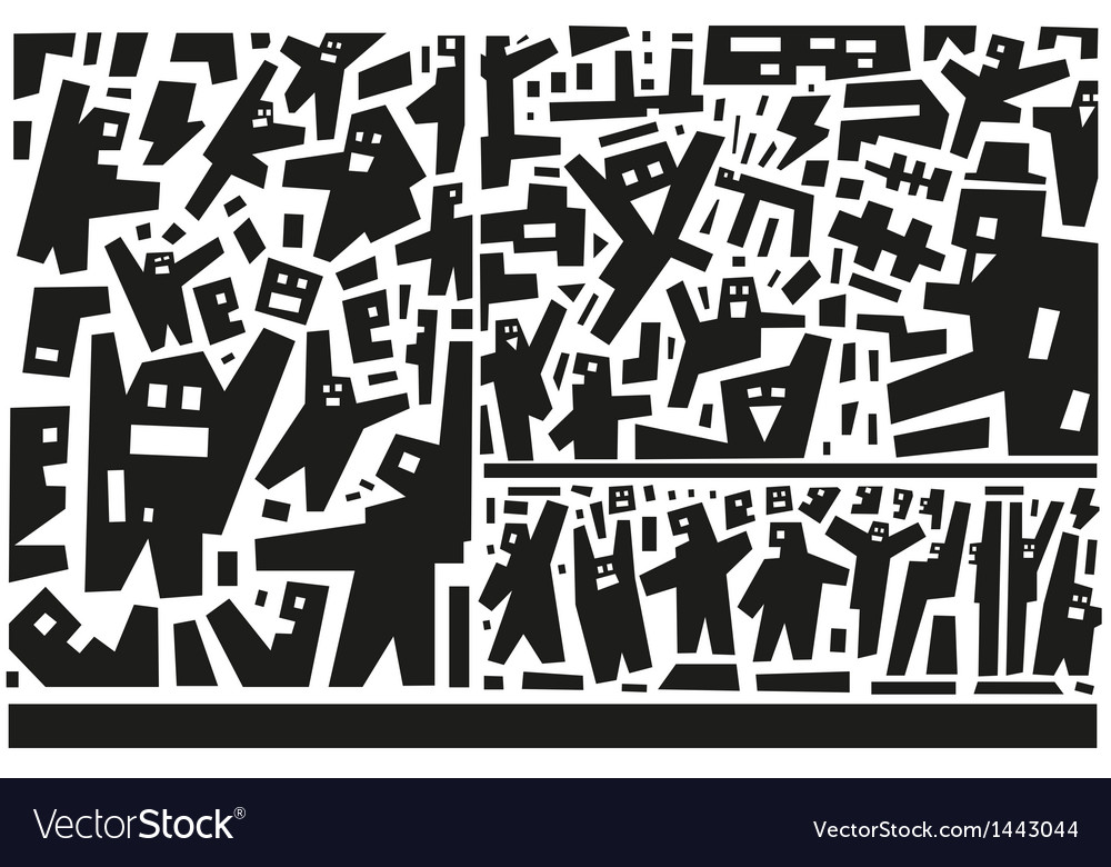 People - abstract vector | Price: 1 Credit (USD $1)
