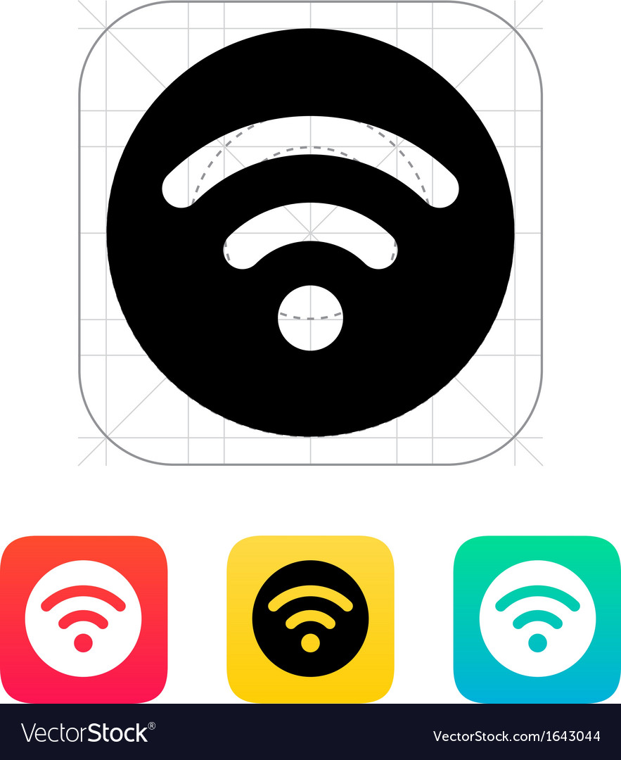 Radio signal icon vector | Price: 1 Credit (USD $1)