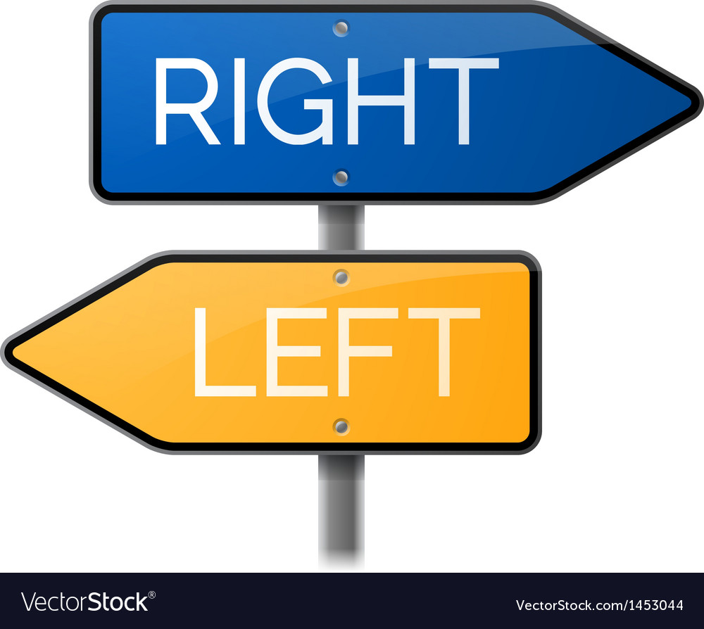 Right or left sign choice vector | Price: 1 Credit (USD $1)