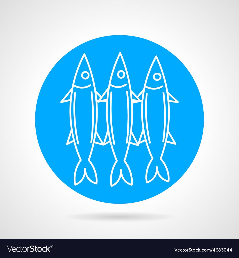 Sea fish blue round icon vector | Price: 1 Credit (USD $1)