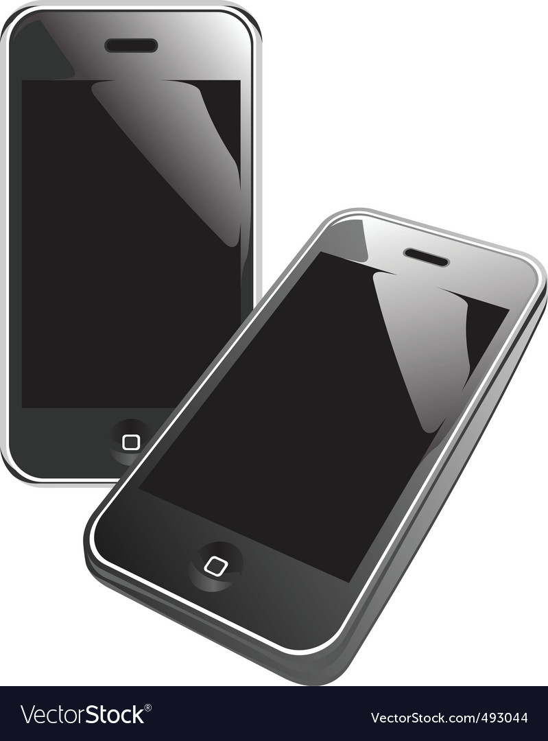 Smart phones vector | Price: 1 Credit (USD $1)