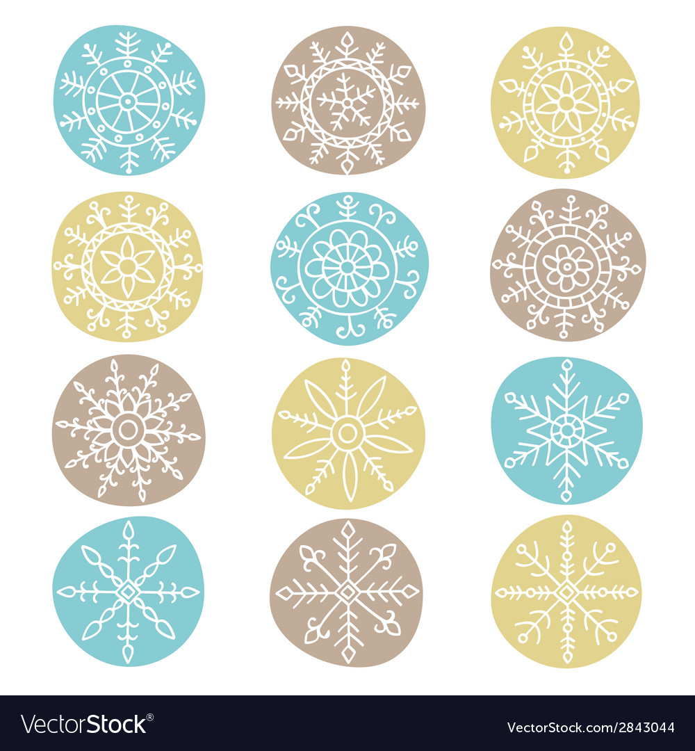 Snowflake-set-vector