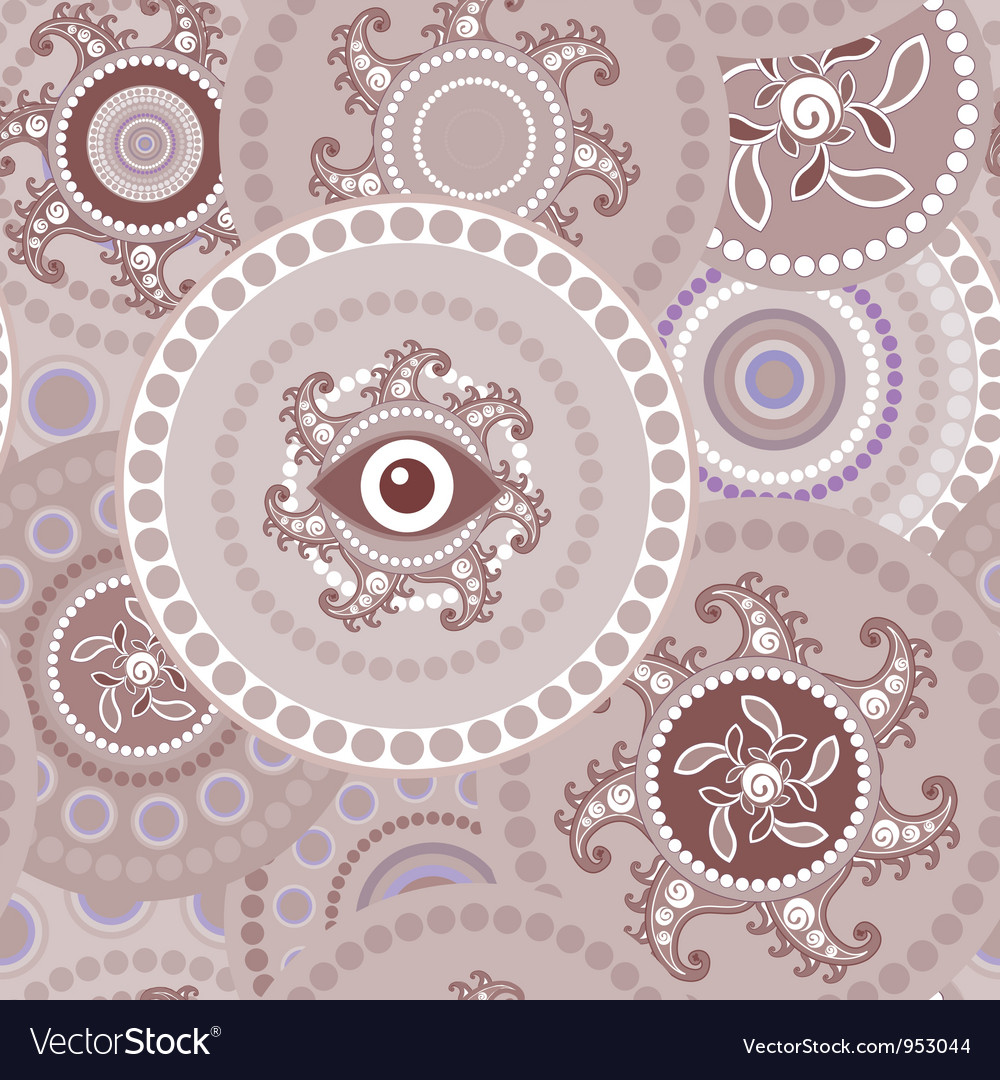 Tribal seamless paisley abstract texture vector | Price: 1 Credit (USD $1)