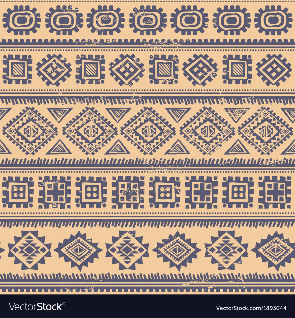 Tribal vintage ethnic seamless vector | Price: 1 Credit (USD $1)
