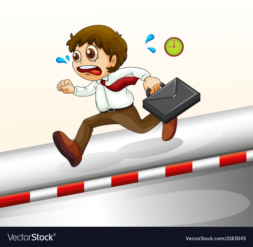 A man running hurriedly vector | Price: 1 Credit (USD $1)