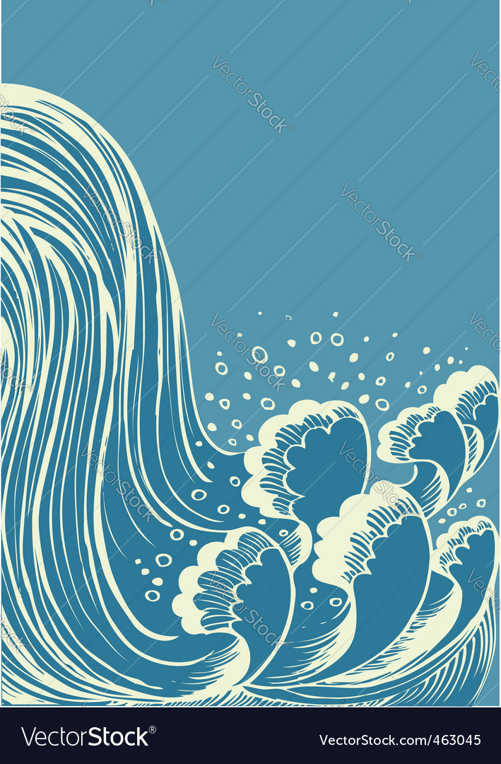 Artistic waterfall vector | Price: 1 Credit (USD $1)
