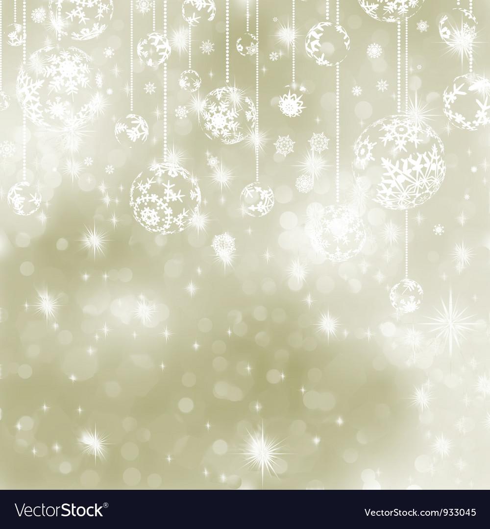 Christmas elegant baubles background vector | Price: 1 Credit (USD $1)