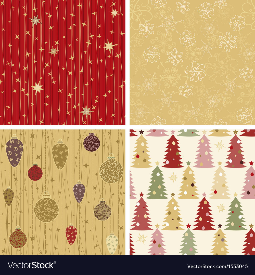 Christmas patterns collection 2 vector | Price: 3 Credit (USD $3)
