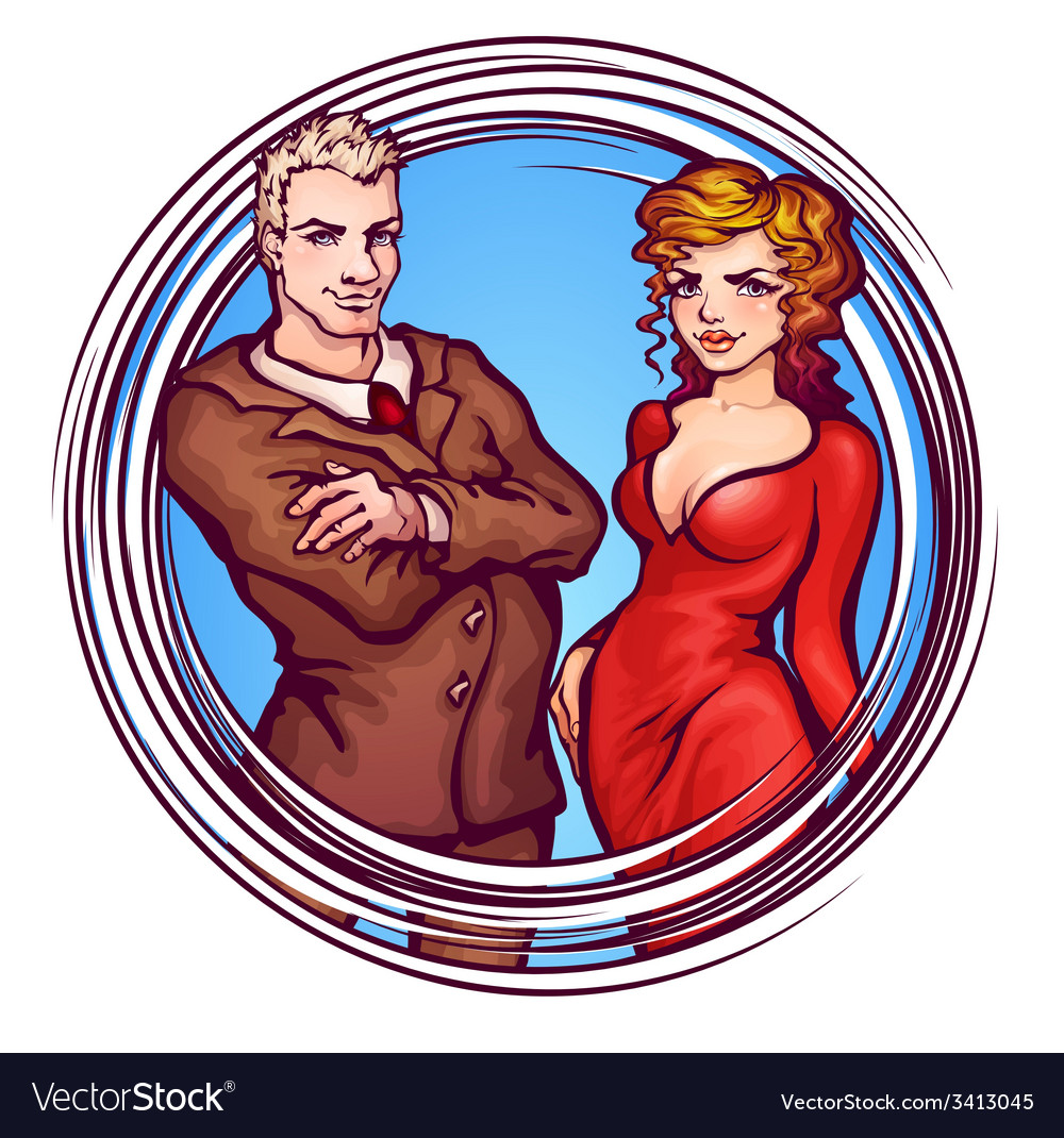 Elegant man and women vector | Price: 3 Credit (USD $3)