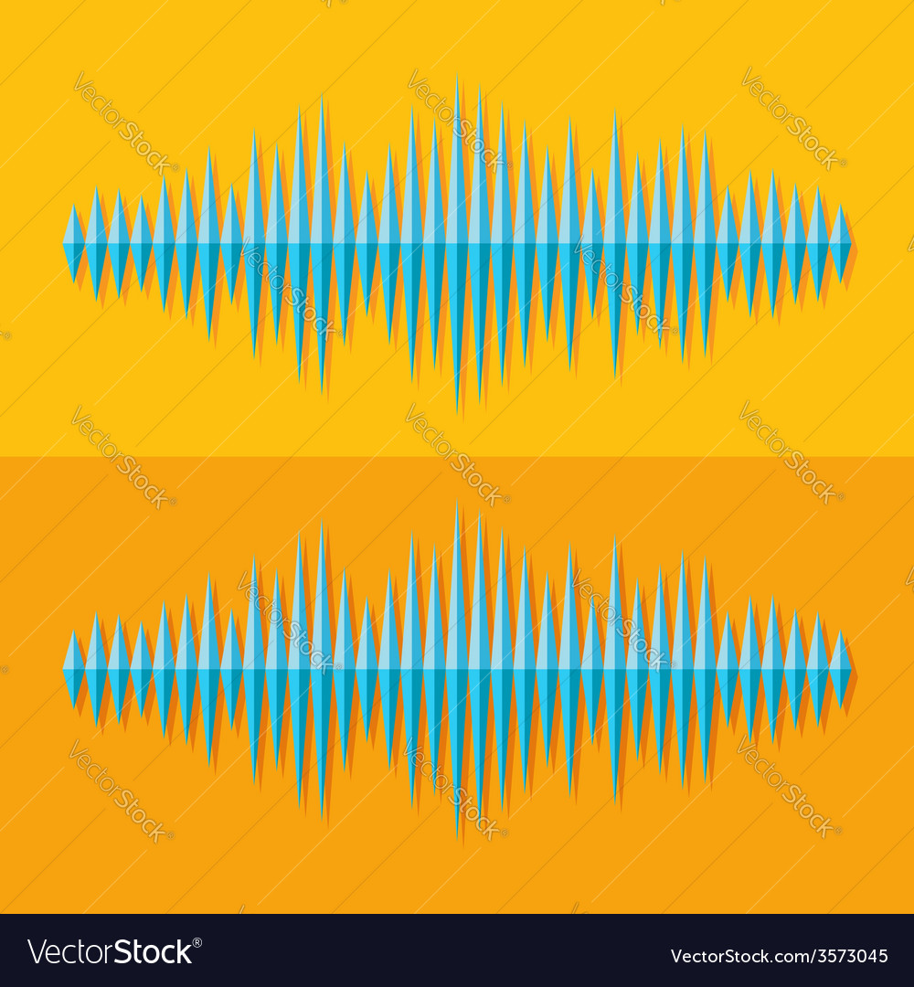 Flat stereo music wave icon vector | Price: 1 Credit (USD $1)