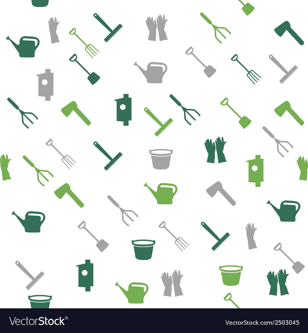 Garden tools seamless pattern vector | Price: 1 Credit (USD $1)