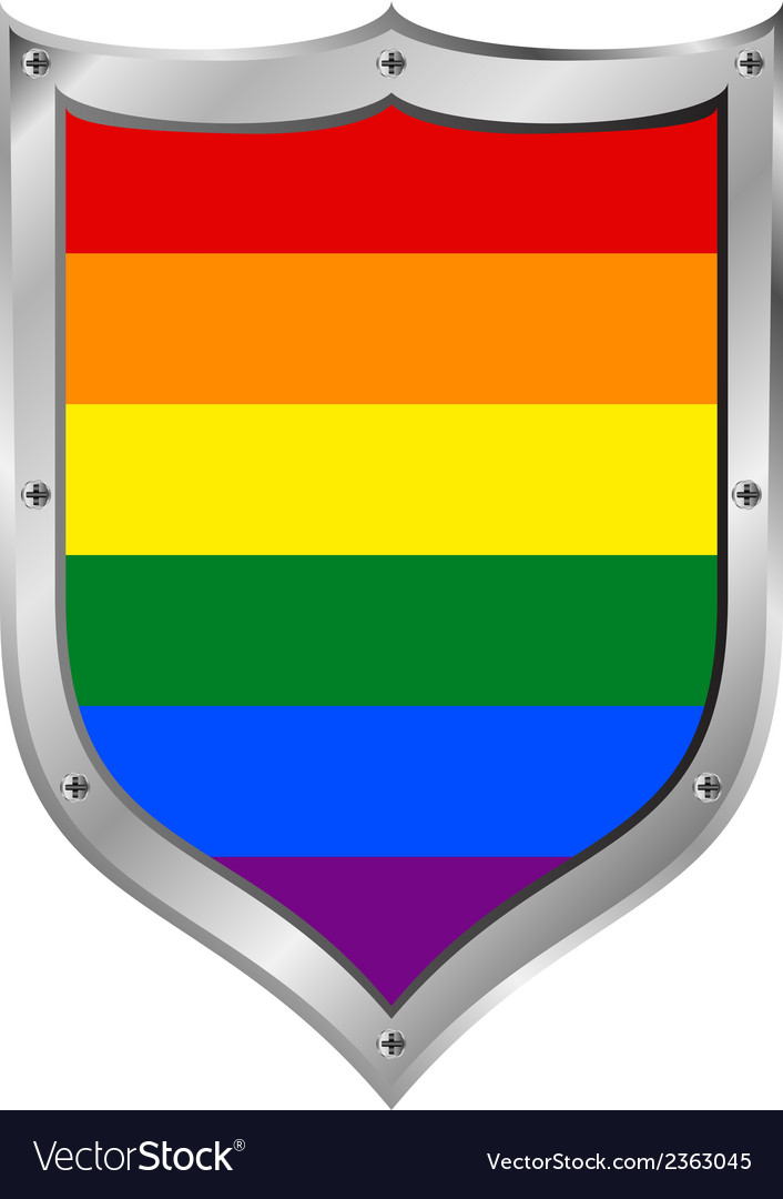 Gay flag button vector | Price: 1 Credit (USD $1)