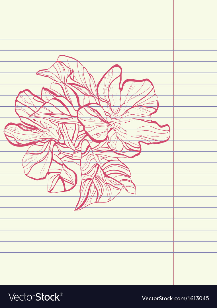 Hand drawing sketch flower vector | Price: 1 Credit (USD $1)