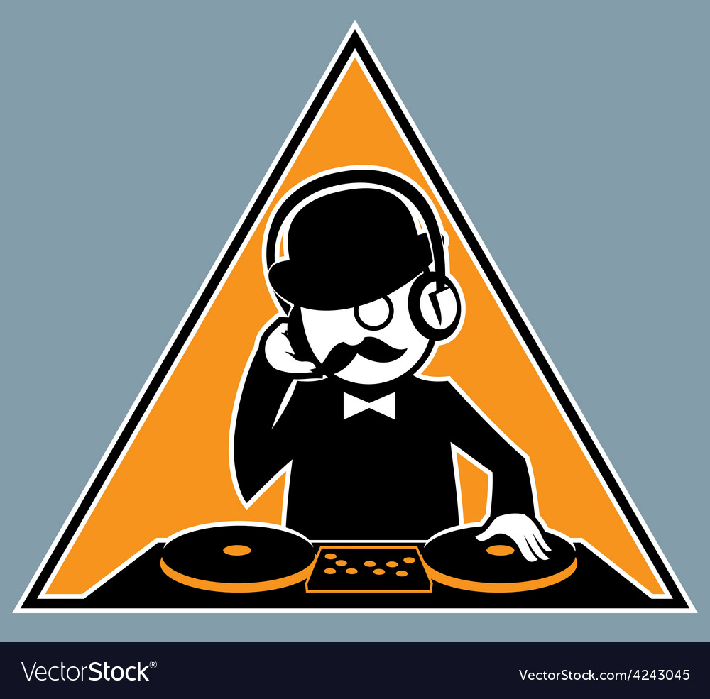 Hipster dj vector | Price: 1 Credit (USD $1)
