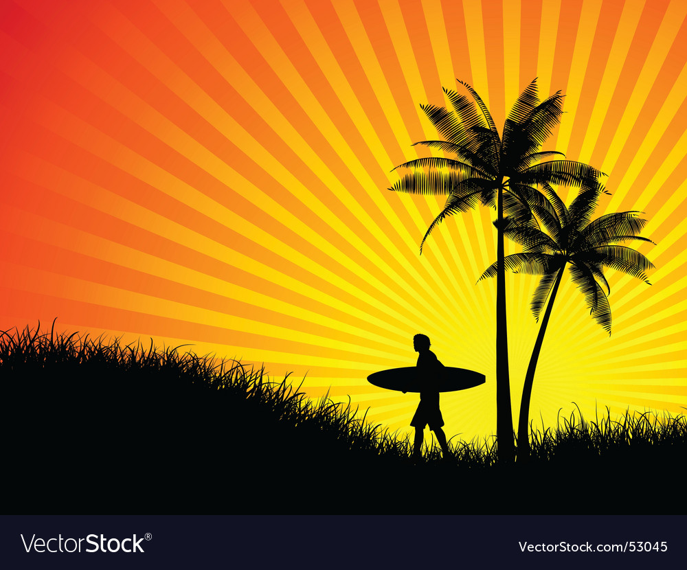 Morning surf vector | Price: 1 Credit (USD $1)