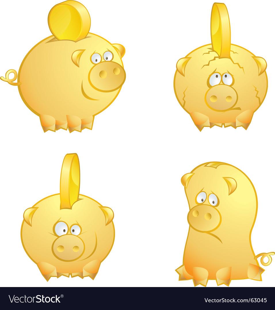 Piggies vector | Price: 1 Credit (USD $1)
