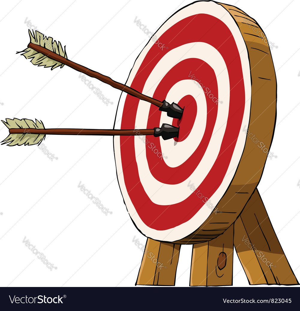 Target and arrows vector