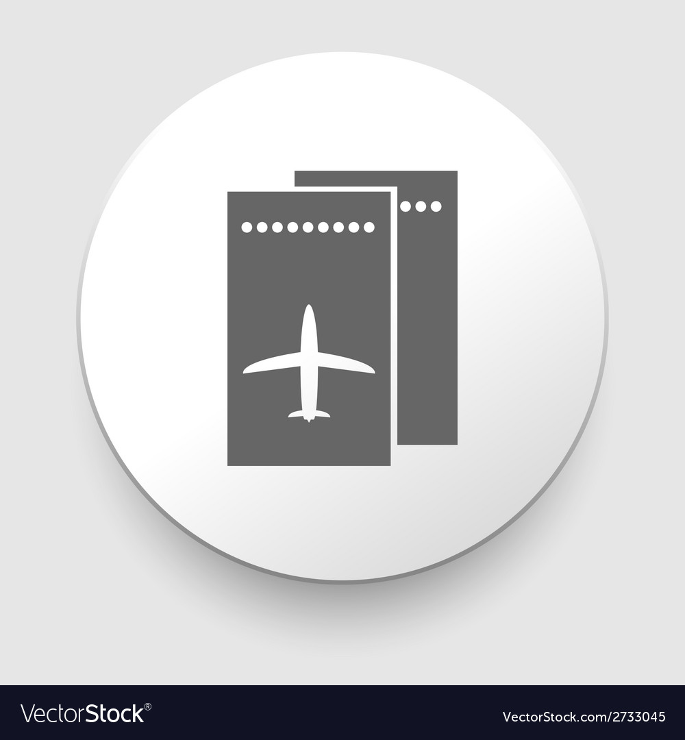 Two boarding passes grey flight coupons vector | Price: 1 Credit (USD $1)