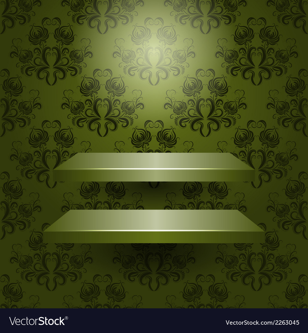 Two empty shelves isolated vector | Price: 1 Credit (USD $1)
