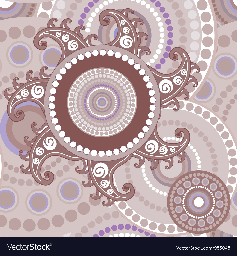 Vintage seamless paisley abstract texture vector | Price: 1 Credit (USD $1)