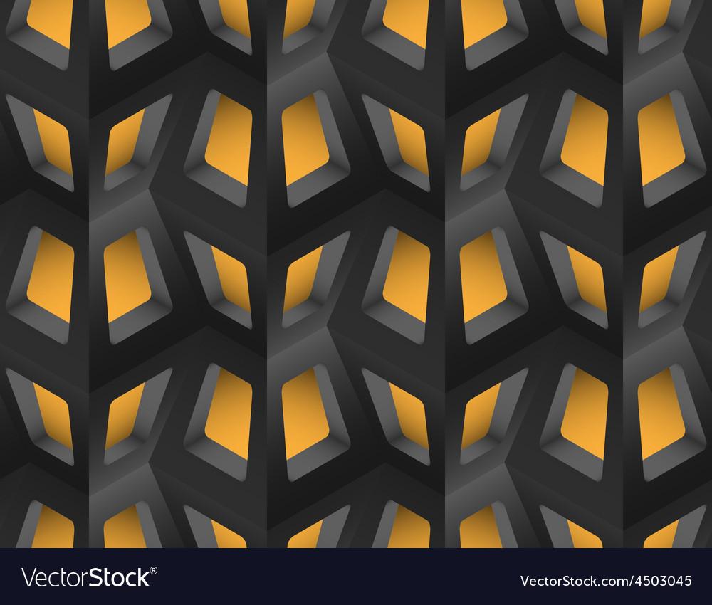 Window lattice with light 3d seamless pattern vector