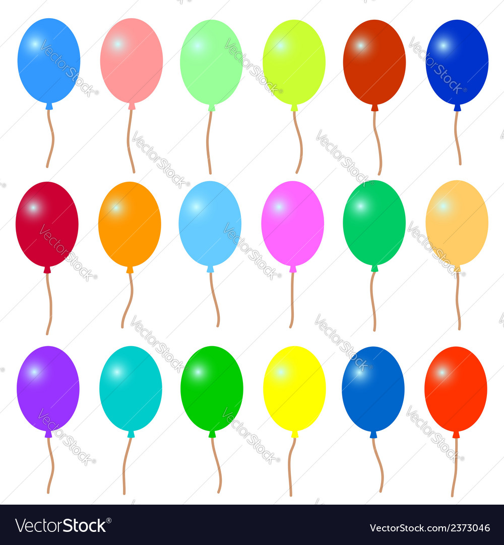 A lot of colorful balloons vector | Price: 1 Credit (USD $1)