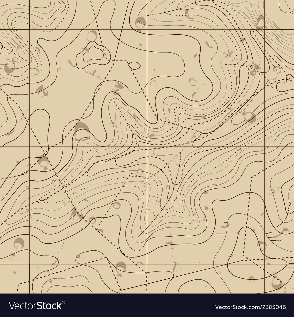 Abstract retro topography map background vector | Price: 1 Credit (USD $1)