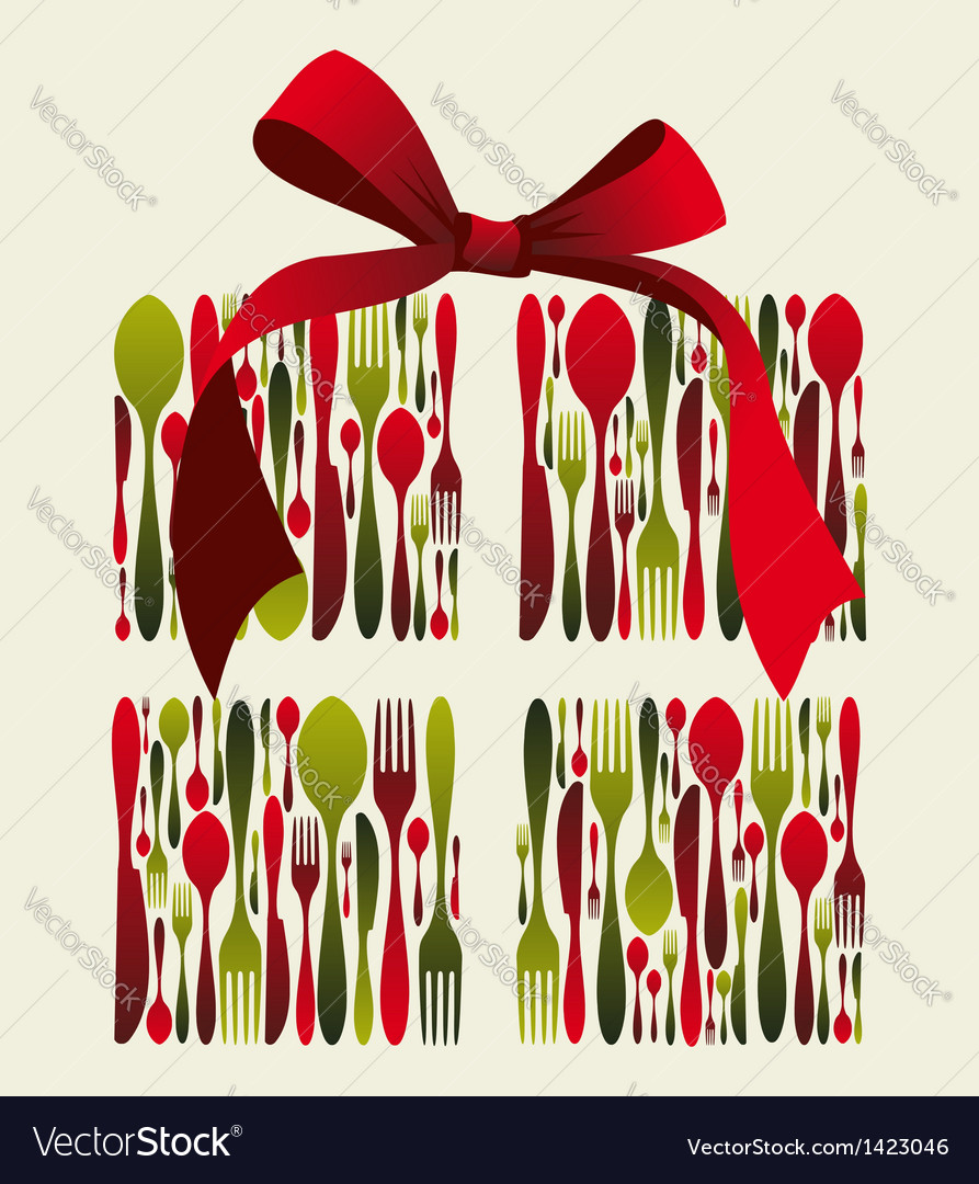 Christmas gift cutlery vector | Price: 1 Credit (USD $1)