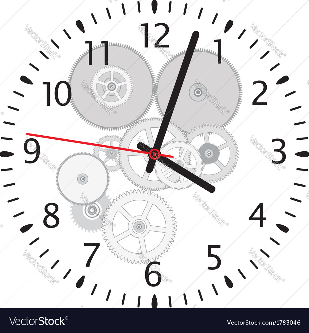 Clock and gears vector | Price: 1 Credit (USD $1)