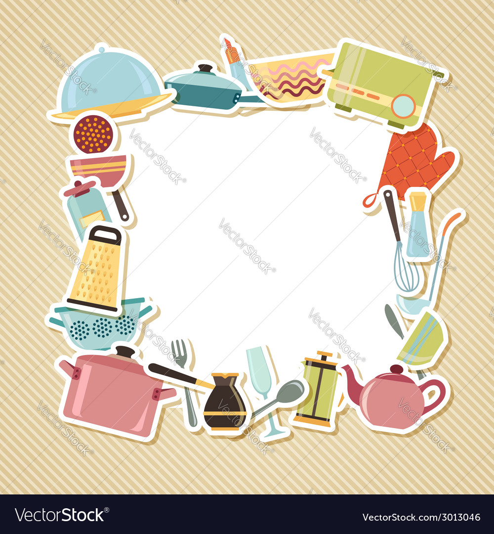 Kitchen utensils appliances and cookware on vector   Price: 1 Credit (USD $1)