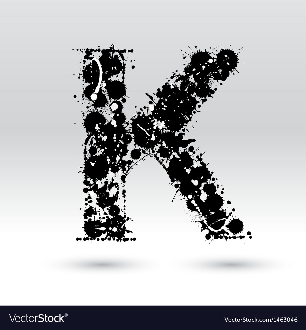 Letter k formed by inkblots vector | Price: 1 Credit (USD $1)