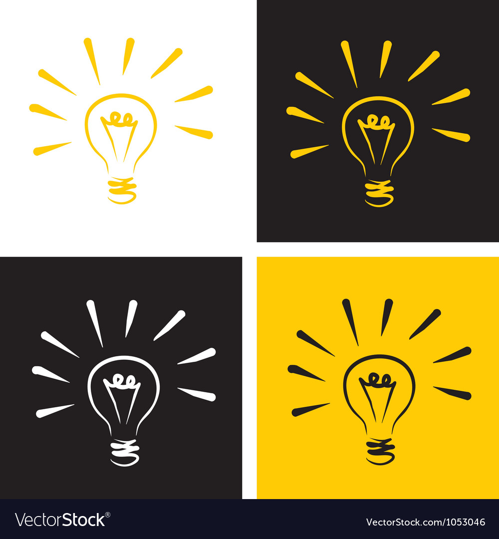 Light bulb icon set vector | Price: 1 Credit (USD $1)