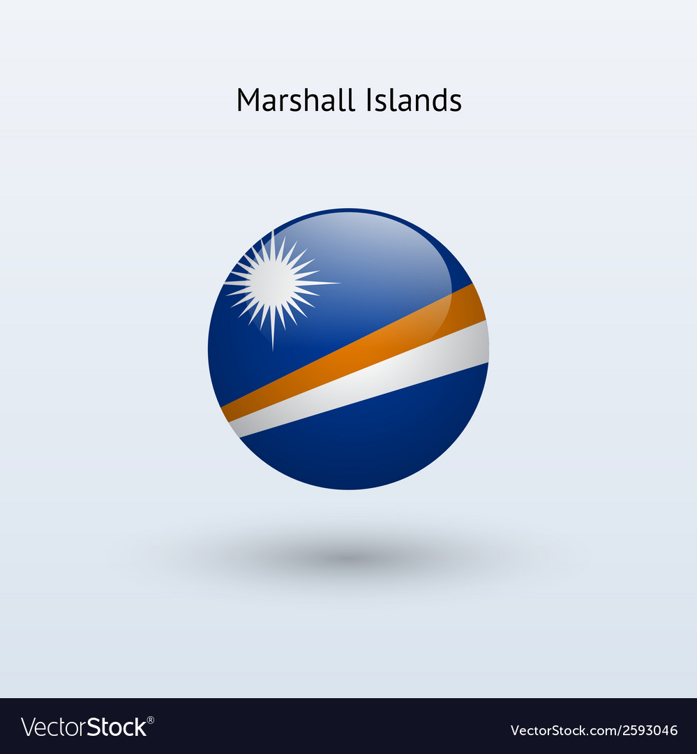 Marshall islands round flag vector   Price: 1 Credit (USD $1)