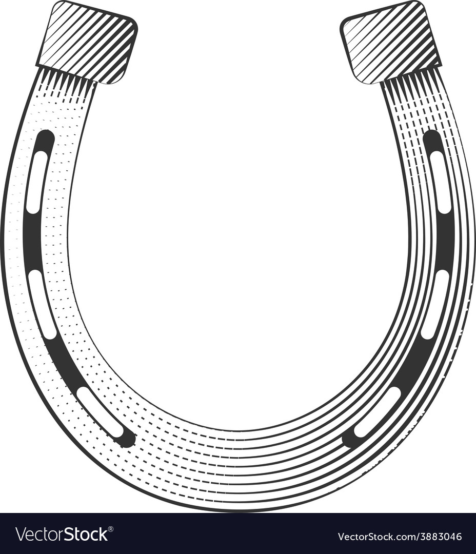 Metal horseshoe vector | Price: 1 Credit (USD $1)