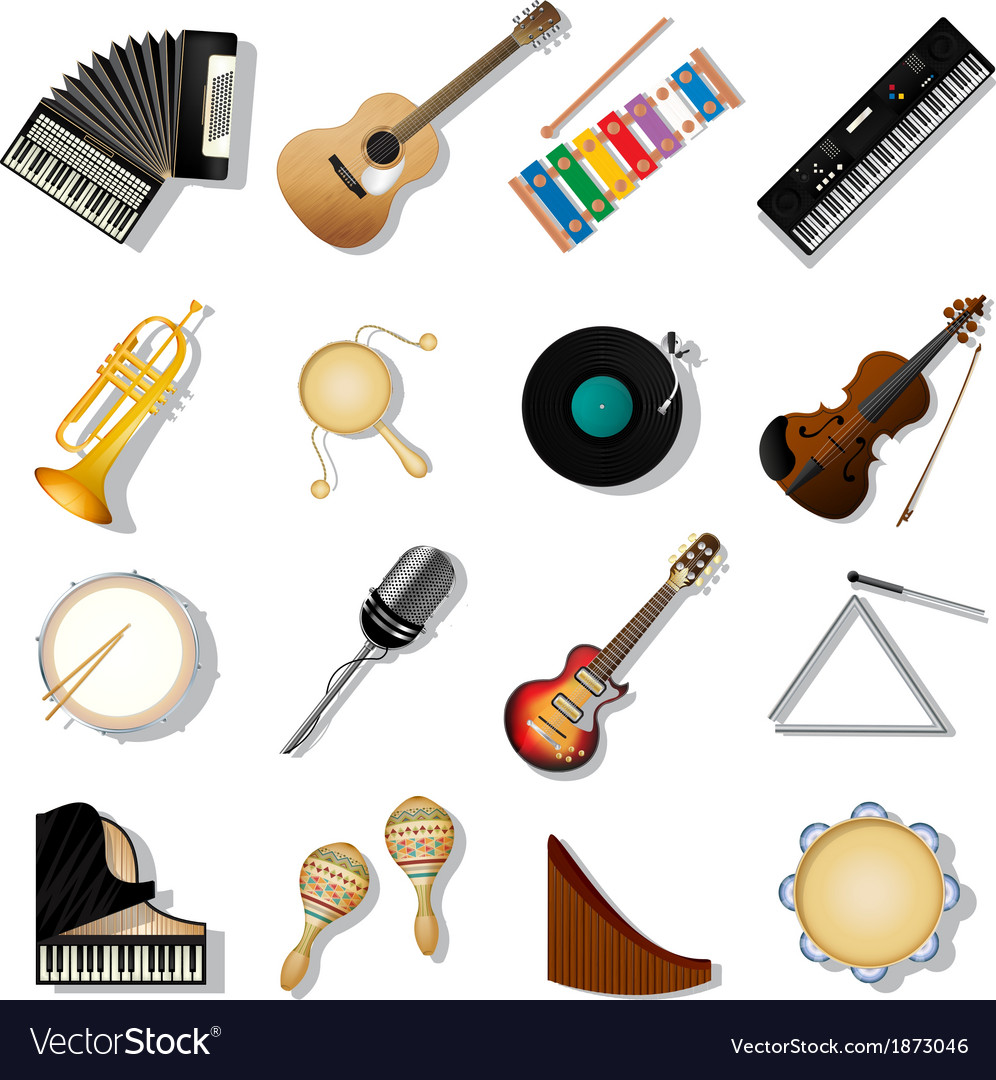 Musical instuments vector | Price: 1 Credit (USD $1)