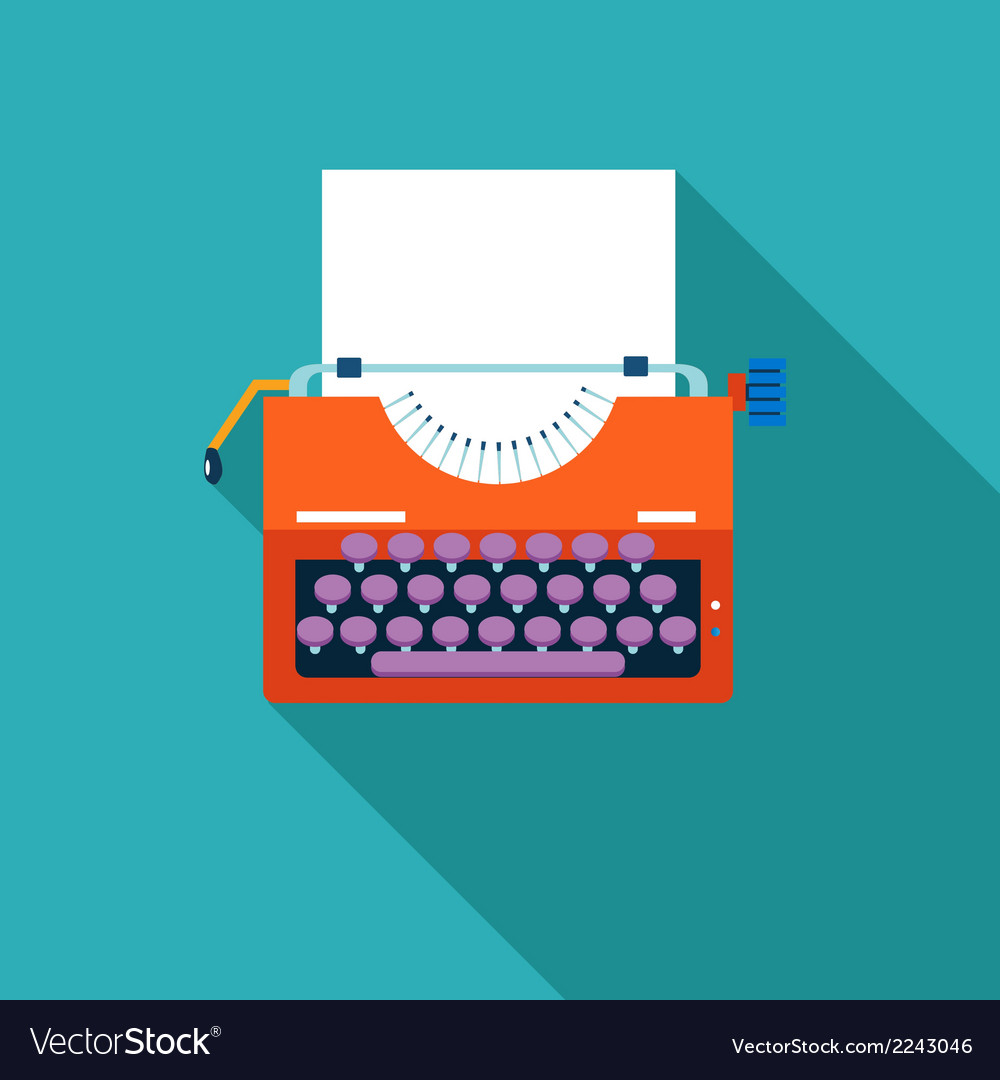 Retro vintage creativity symbol typewriter and vector | Price: 1 Credit (USD $1)
