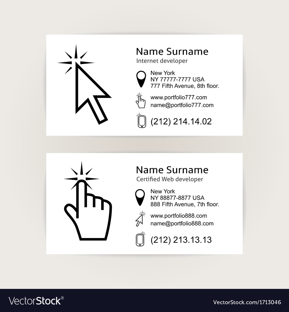 Simple business card templates vector | Price: 1 Credit (USD $1)