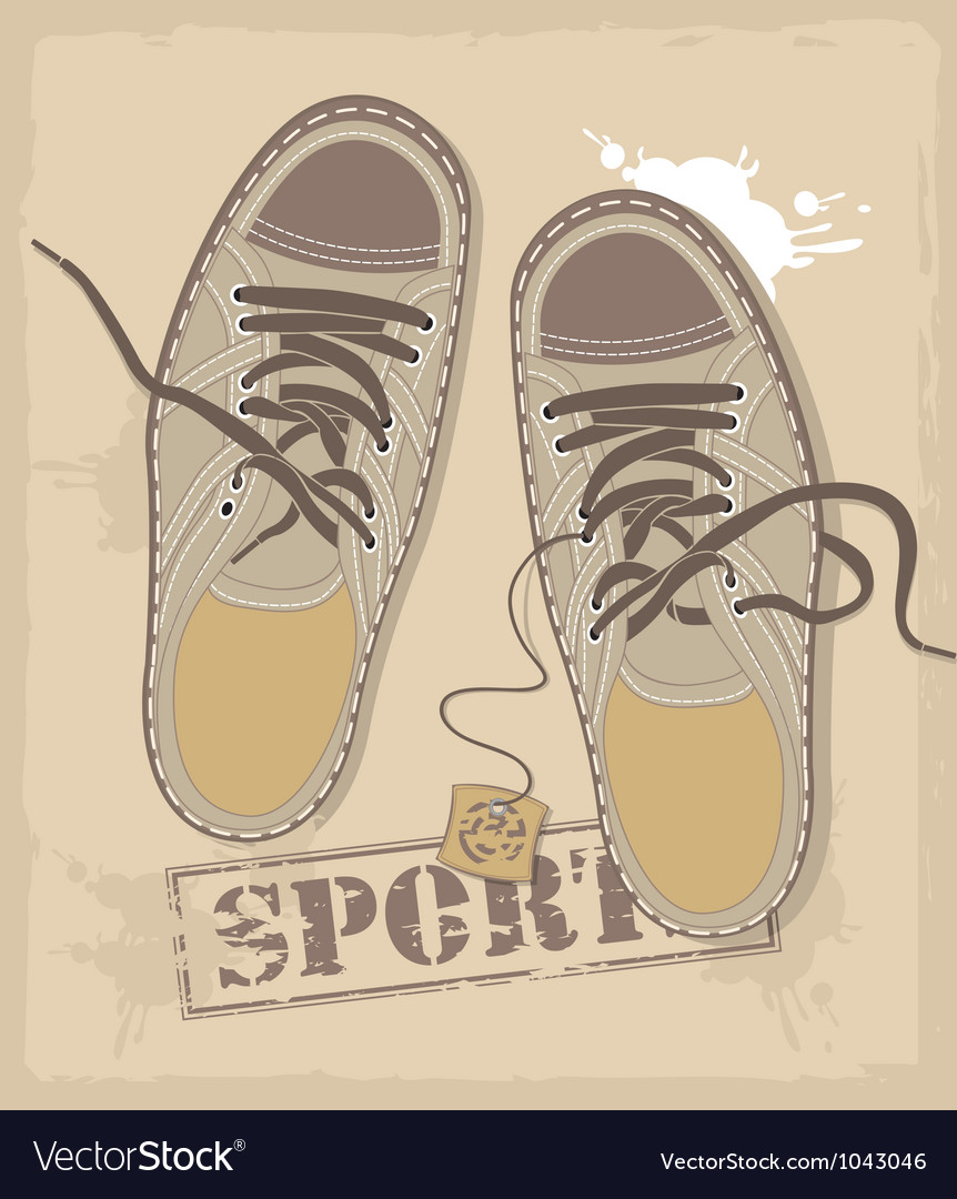Sports shoes vector | Price: 1 Credit (USD $1)