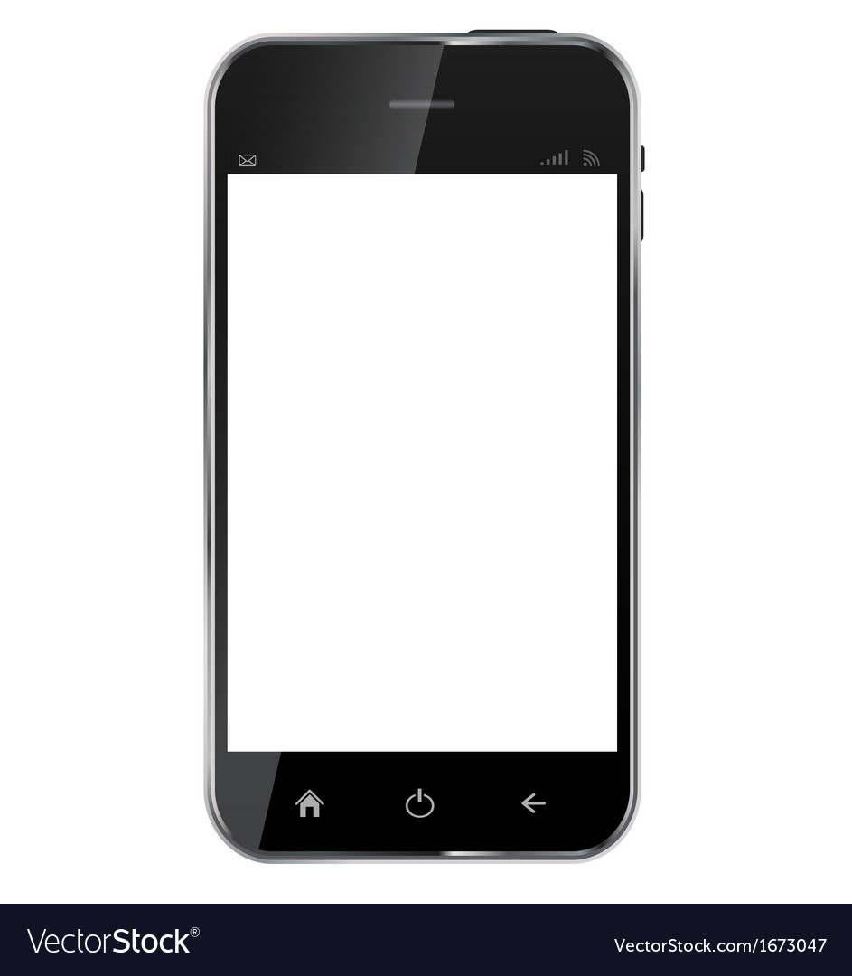 Abstract design realistic mobile phone with blank vector | Price: 1 Credit (USD $1)