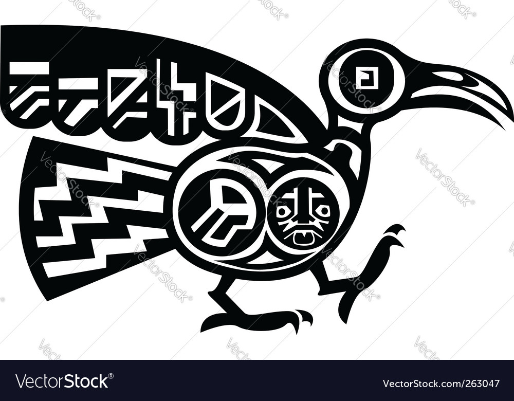 Aztec bird vector | Price: 1 Credit (USD $1)