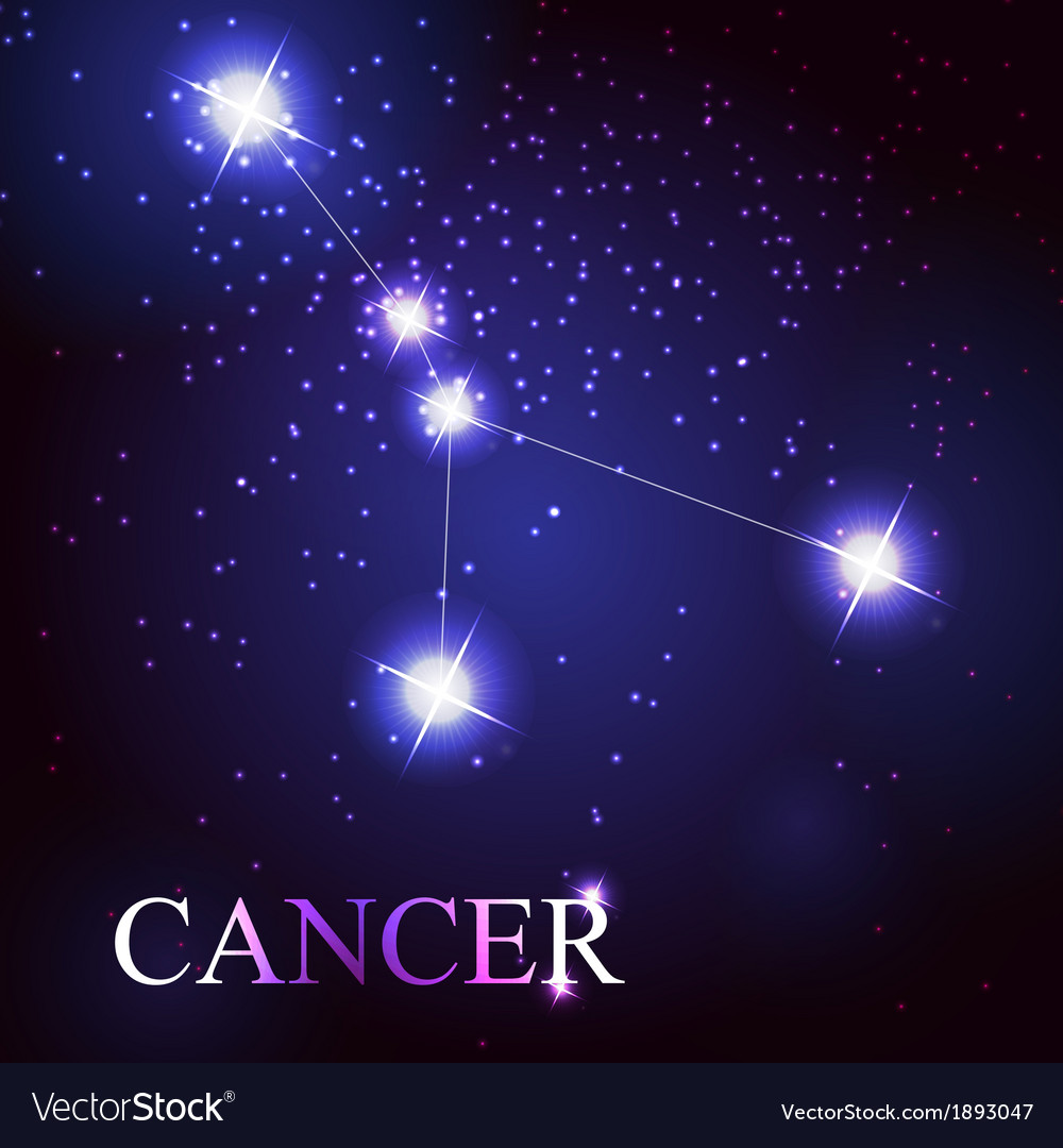 Cancer zodiac sign of the beautiful bright stars vector | Price: 1 Credit (USD $1)