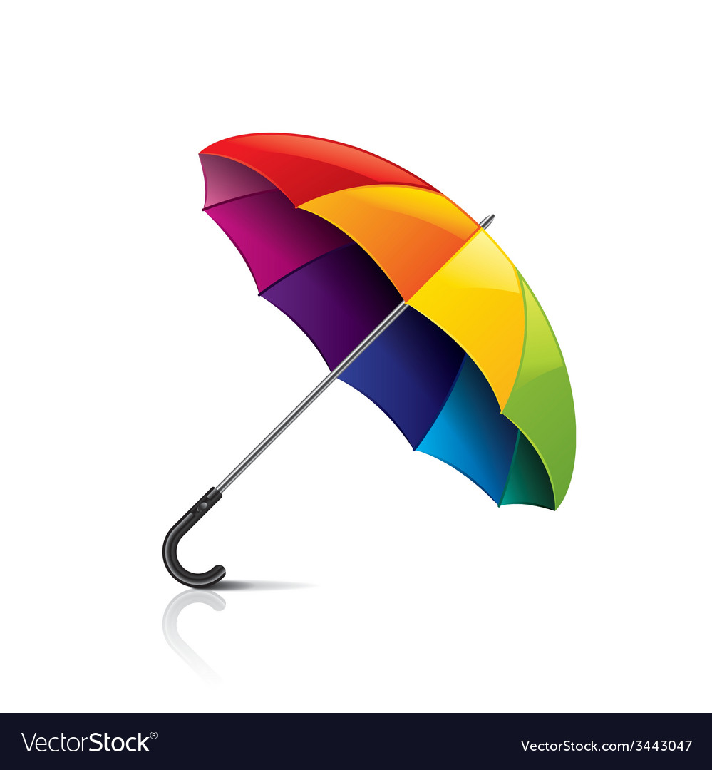 Colorful umbrella isolated vector | Price: 1 Credit (USD $1)