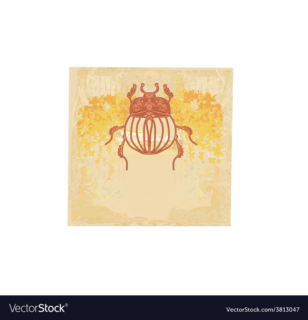 Golden scarab background vector | Price: 1 Credit (USD $1)